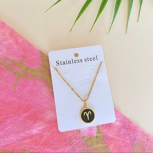 Jewelry - Aries Zodiac Sign Charm Stainless Steel Necklace